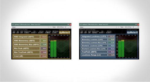 TBProAudio dpMeterII Plug-in GUI RMS EBU