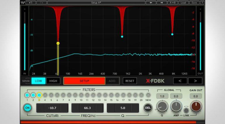 Waves X-FDBK - automatische Feedback Eliminierung durch ein Plug-in