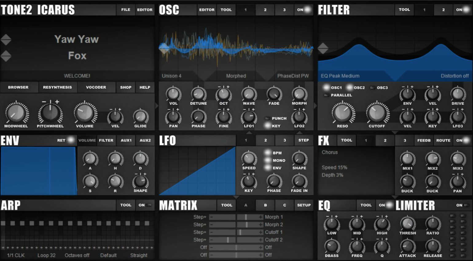 tone2 icarus free download