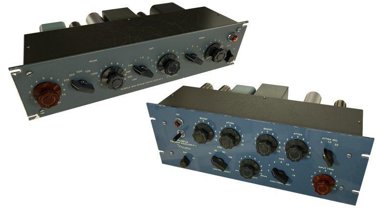 Acustica Audio Purple P-1 M-5 Tube EQ Equalizer Plug-in Mockup GUI