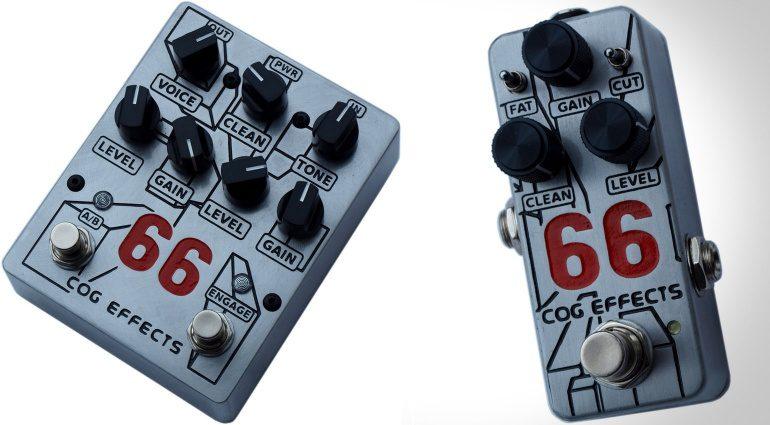 Cog Effects Knightfall 66 Mini 66 Pedal Effekt Front Bass Distortion