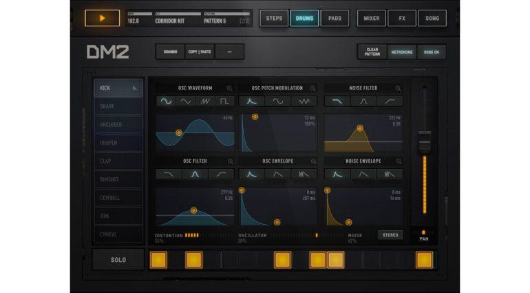 Audionomy DM-2 - die beliebte iPad Drum-Machine mausert sich zum Synthesizer