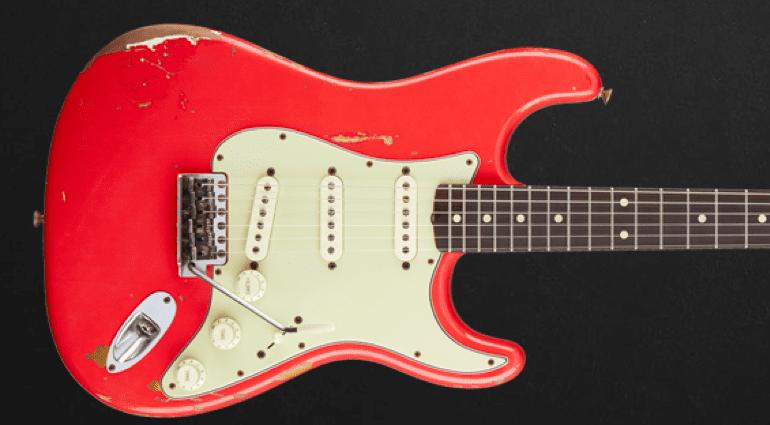 Fender Gary Moore Custom Shop Stratocaster Fiesta Red Front
