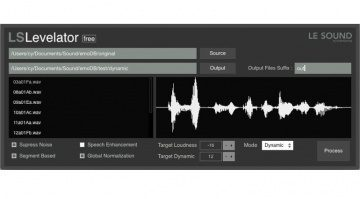 Game Audio Le Sound LS Levelator Normalisation GUI