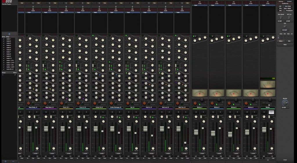 Harrison Mixbus 32C Mixer GUI