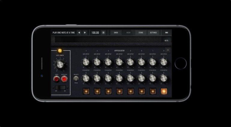 Moog Model 15 App iOS GUI 1 Arpeggiator