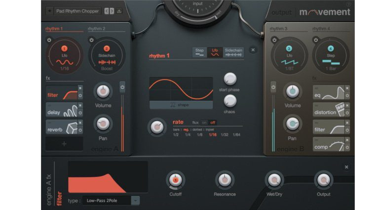 Output Movement Plug-in Effekt GUI Oberfläche LFO