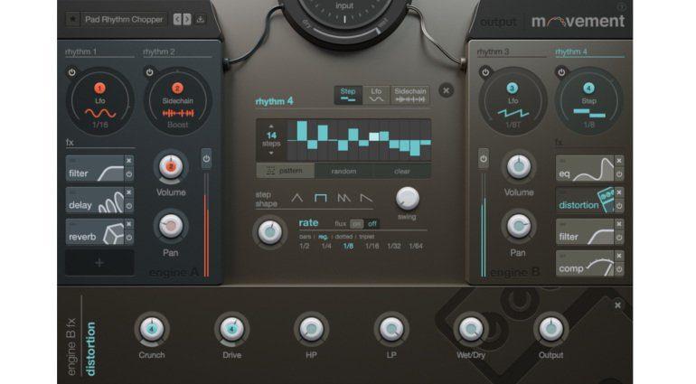 Output Movement Plug-in Effekt GUI Oberfläche Step Rhythm