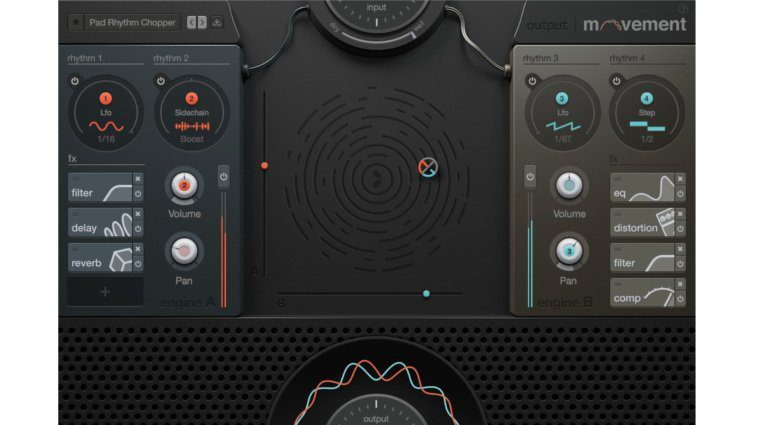 Output Movement Plug-in Effekt GUI Oberfläche XY Pad