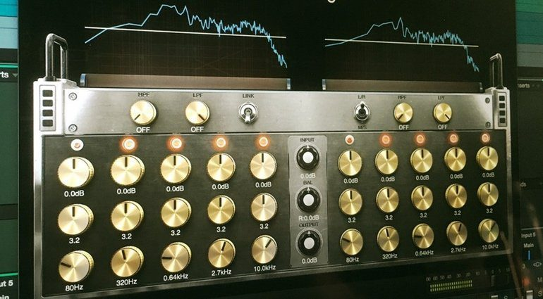 Positive Grid Pro Series Matching EQ Digital Equalizer Plug-in GUI