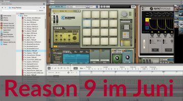 Propellerhead Reason 9 Preview Teaser DAW GUI