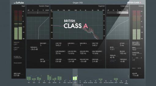 Softube Neve British Class A Console 1 Channelstrip Plug-in GUI