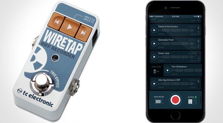 TC Electronic WireTap Pedal FX Front App iOS