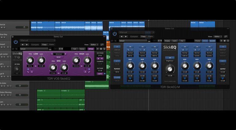 Tokyo Dawn Labs TDR SlickEQ Mastering Edition Plug-in GUI Vergleich