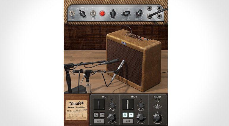 Universal Audio Fender 55 Tweed Deluxe Amp GUI Plug-in