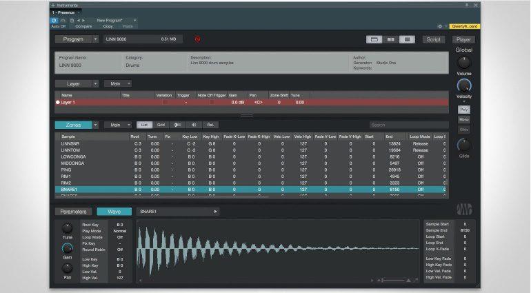Presonus Presence XT Editor GUI