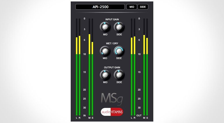 Audio Vitamins MSg Plug-in GUI