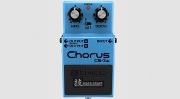 Boss CE-2w Chorus Ensemble Waza Craft Pedal Front Top