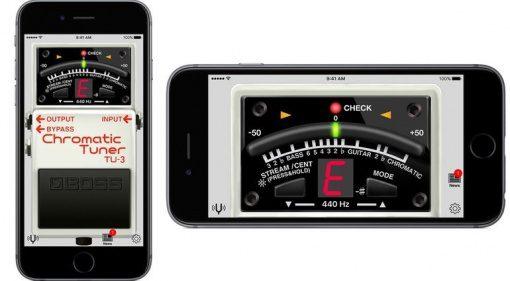 Boss Tuner App iPhone iOS Android GUI TU-3