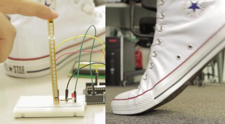 Converse Chucks Chet Atkins All Wah Flex Sensor