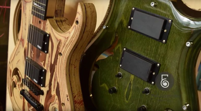Evolution Guitars Modular Natur Gruen