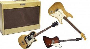 Gary Moore Bonham Auktion Stratocaster Twin Firebird NAtional