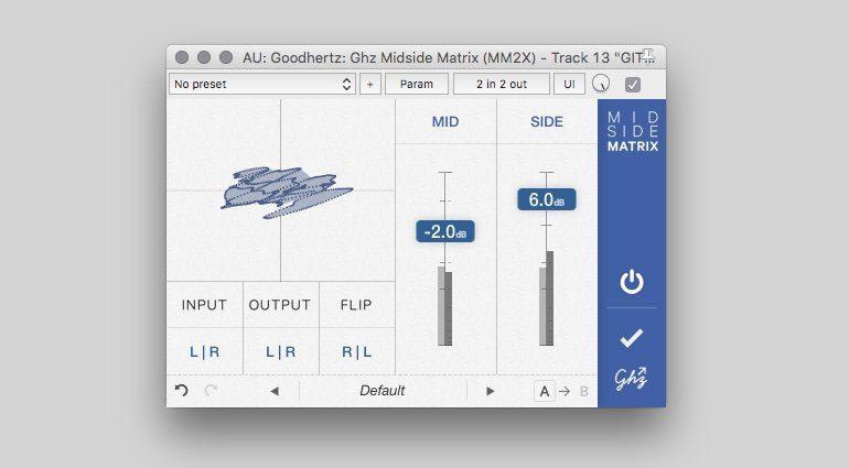 Goodhertz Midside Matrix Plug-in GUI