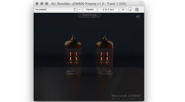 Marcuriall JCM800 Preamp Freeware GUI 1
