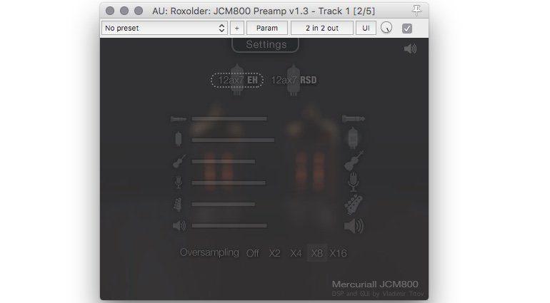 Marcuriall JCM800 Preamp Freeware GUI 2