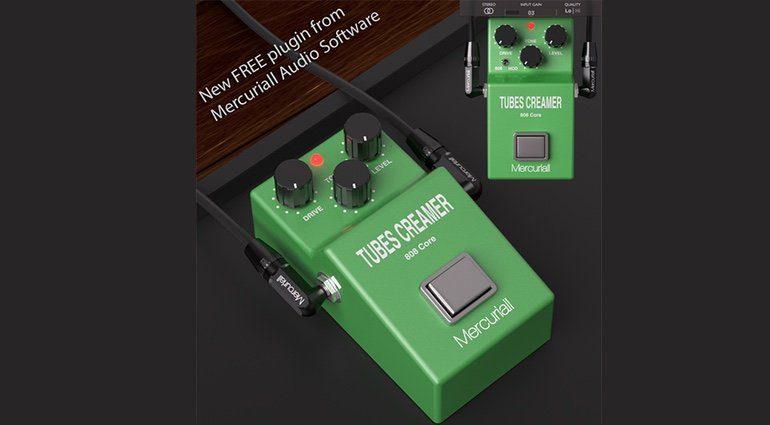 Mercuriall Audio Tubes Creamer TS-808 Pedal Plug-in GUI Teaser