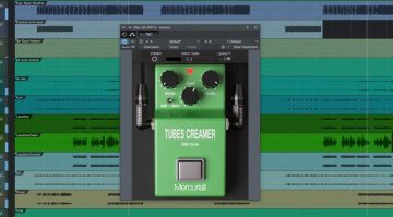 Mercuriall Audio Tubes Creamer TS-808 Plug-in GUI in Studio One