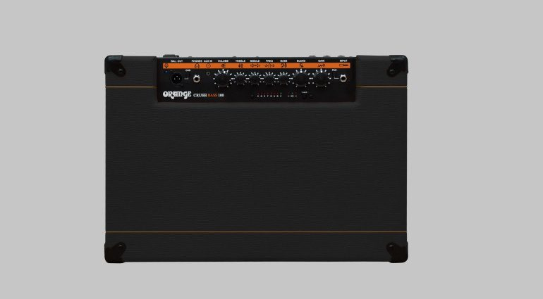 Orange Bass Crush 100 Top View Regler