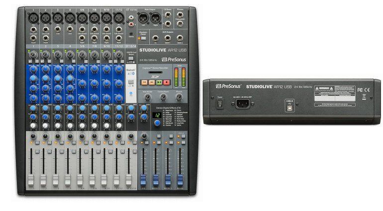 Presonus StudioLive AR12 USB Front Back