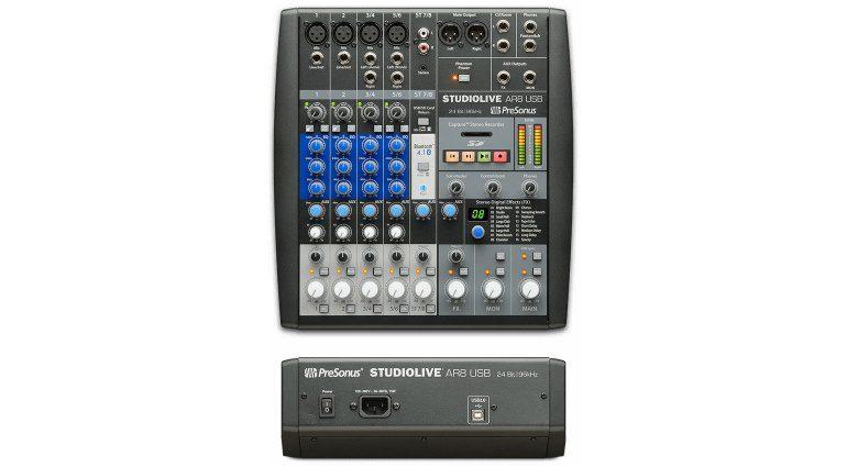Presonus StudioLive AR8 USB Front Back