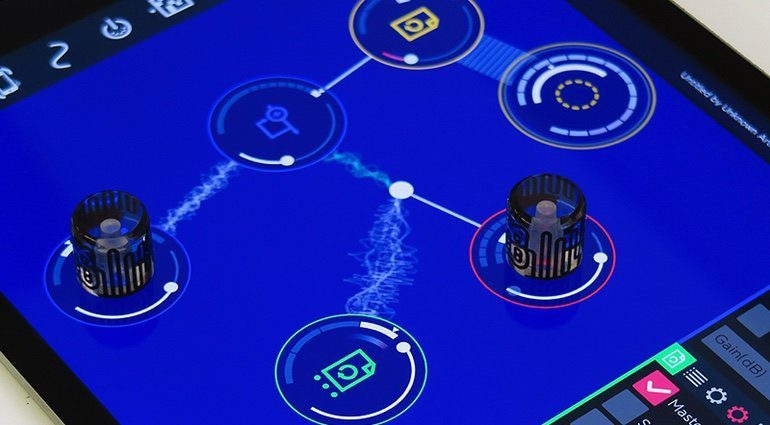 Reactable Rotor iPad Pro GUI DAW