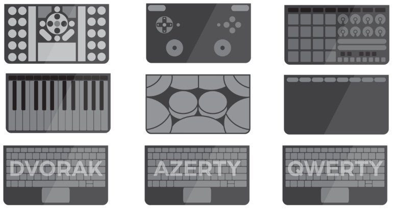 Sensel Morph Controller Overlay Auswahl