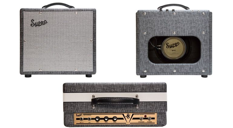 Supro 1600 Supreme Combo Amp 1x10 Front Back Faceplate