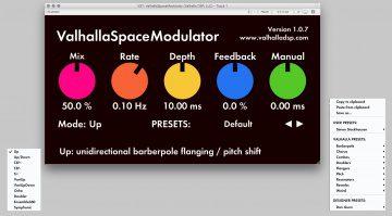 Valhalla SpaceModular GUI Free Plug-in