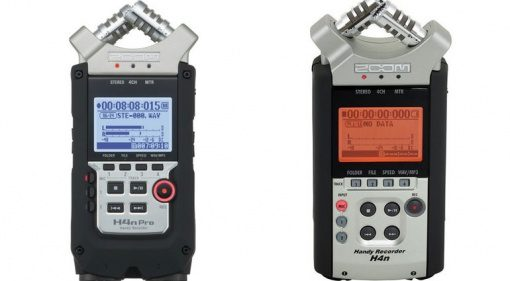 Zoom H4n Pro vs H4n Front Handheld Recorder Vergleich