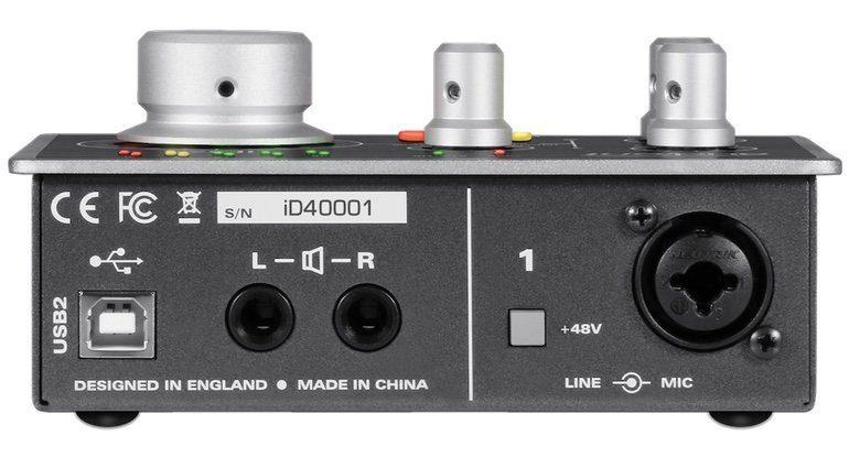 Audient iD4 USB Audiointerface Rueckseite Back