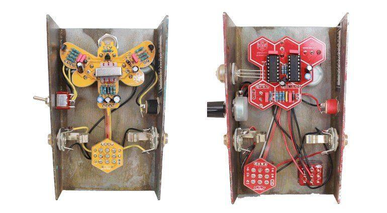 Beetronics OctaHive WhoctaHell Fuzz Pedal PCB Leiterplatten Innen