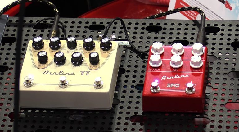 Eastwood Airline SFO TT Pedals Front Summer NAMM 2016