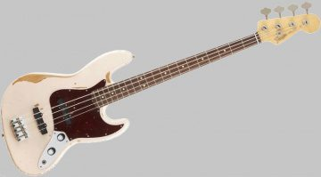 Fender Flea Signature Jazz Bass Road Worn Front Grau