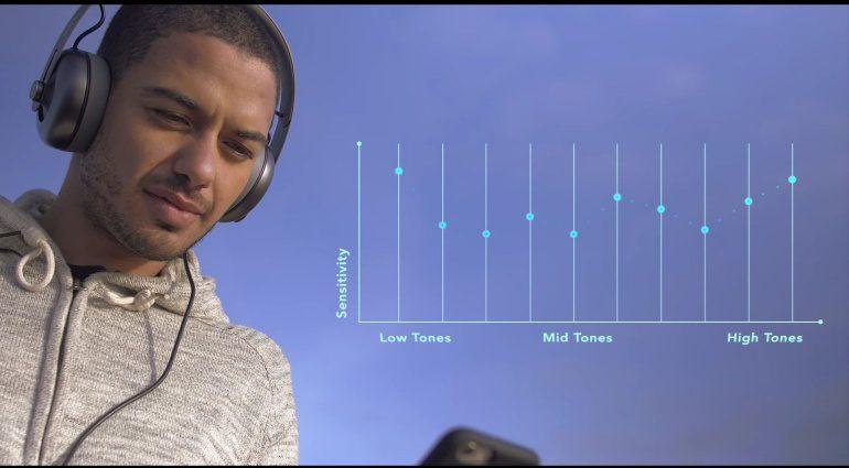 Nura Kickstarter automatischer EQ Frequenzkurve