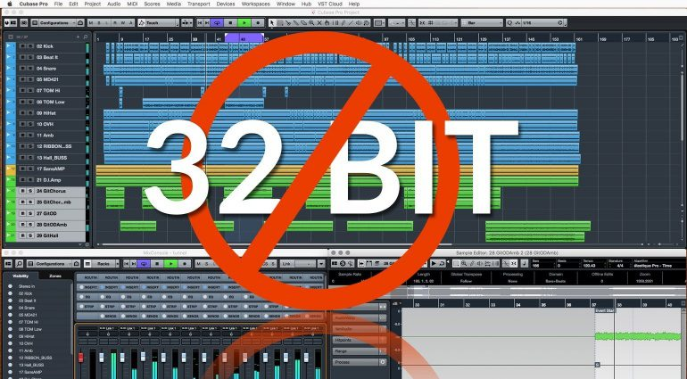 Steinberg Cubase GUI 32 Bit Support Dropped