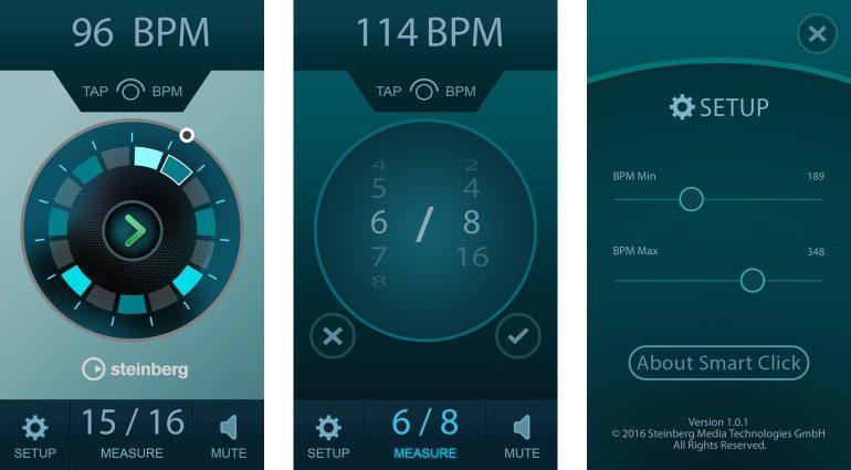 Steinberg Smart Click Metronom App GUI