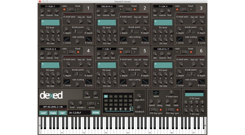 Freeware Plug-in Tipp #22: Dexed - DX7 Synthesizer und