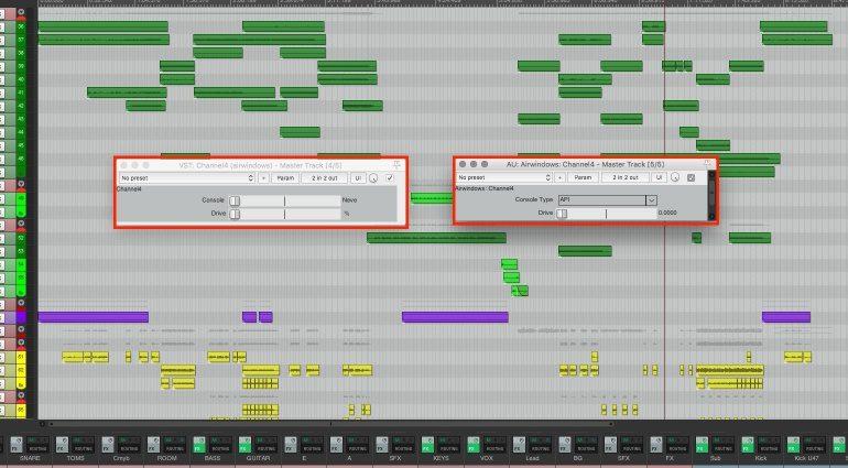 Airwindows Channel4 Freeware Console Emulation Plug-in GUI VST AU Reaper