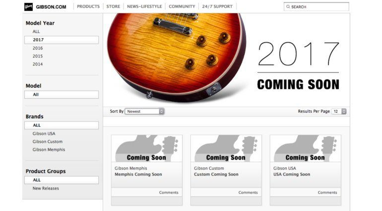 Gibson 2017 Rumor Mockups Coming Soon