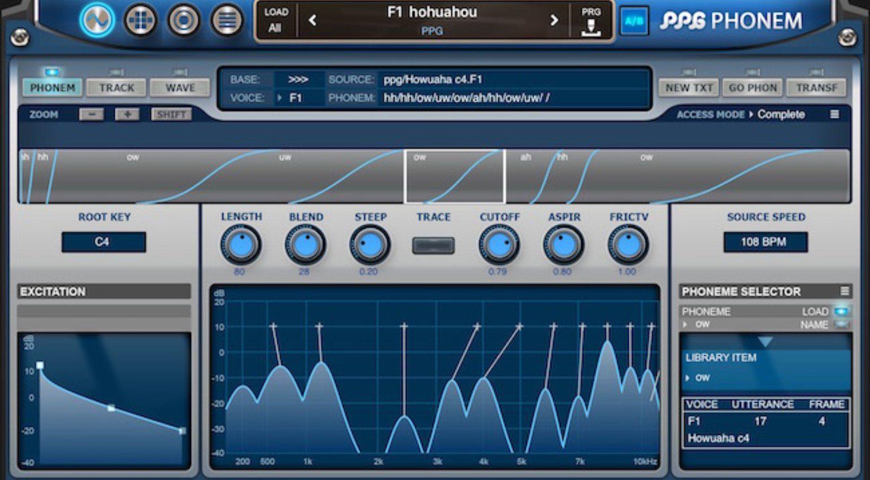 Wolfgang Palm PPG Phonem for iOS - ein Vocal Synthesizer für das